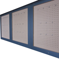Workshop Garage Peg Boards with Hooks. 3 Wall Mounted Boards each 765mm x 850mm