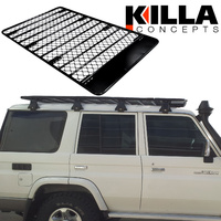 Alloy Roof Rack Landcruiser 76 Series Wagon Low Profile 2.2x1.35 Gutter Mount