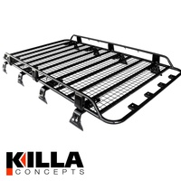 Tradesman Premium Steel Roof Rack suits Nissan Patrol GU GQ MQ 2200 x 1250 mm