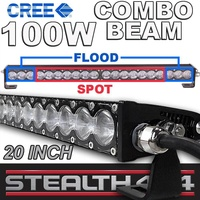 STEALTH 20 Inch 100W Slim Line Light Bar 20 x 5W CREE Combo LED 4x4 4WD Work