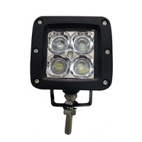 STEALTH 3 inch LED Work Light 20W CREE Flood Beam 4 x Colour Lenses 4X4 Camping