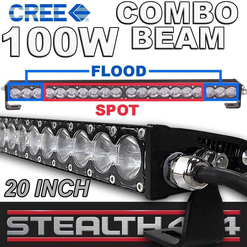Stealth 20 inch 100w slim line light bar 20 x 5w cree combo led stealth 20 inch 100w slim line light bar 20 x 5w cree combo led 4x4 4wd work mozeypictures Image collections