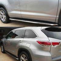 Toyota Kluger 2014+ Side Step Running Board Pair GX GXL GRANDE Aluminium Black