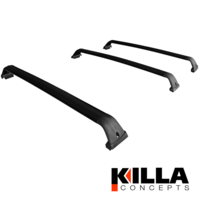Toyota LandCruiser Prado 120 Series Aero Style Roof Rack Cross Bars Set of 3
