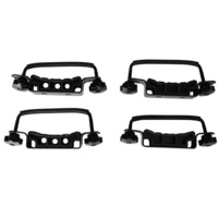 Universal Roof Rack Roof Basket Clamps Set of 4 Steel Plastic with Adjustment