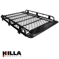 Tradesman Roof Rack Toyota LandCruiser Prado 120  Series Alloy 2100mm Black