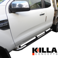 2011-2018 Ford Ranger Extra Cab Stainless Steel Side Step Rails Running Board XL XLT XL Plus