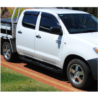 Toyota Hilux Dual Cab Side Step Rails Running Board 1990 mm Black