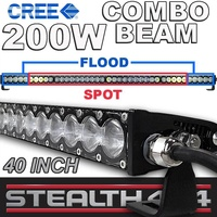 STEALTH 40 Inch 200W Slim Line Light Bar 40 x 5W CREE Combo LED 4x4 4WD Work