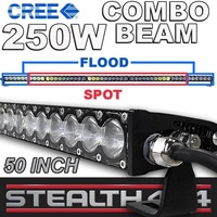 STEALTH 50 Inch 250W Slim Line Light Bar 50 x 5W CREE Combo LED 4x4 4WD Work