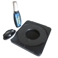 CD DVD Cleaning Kit with Cradle, Fluid and Cleaning Pad